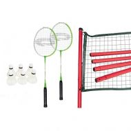 Set badminton Spokey: 2 rachete, fileu cu stalpi, 6 fluturasi